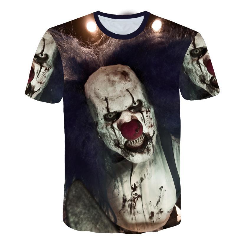 bb97e226a248 LAUGHTERTOSTART Big Yards New Fashion Brand T Shirt Men Women Summer 3d  Tshirt Horror Clown 3D Print T Shirt O Neck Tops Tees Fun T Shirts Online  Shirts ...