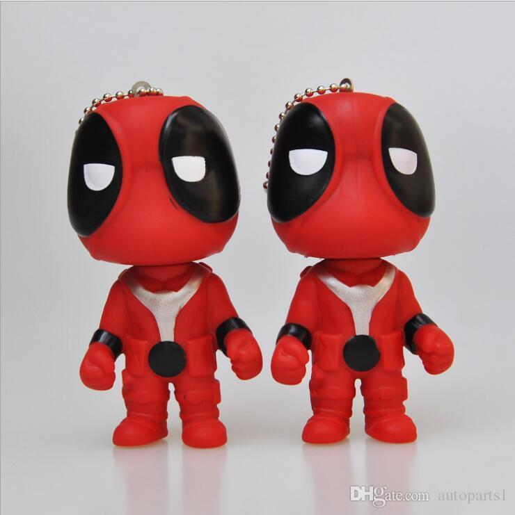 Deadpool Cute Mini Figure Toy Keychain Unisex Cool Gift Deadpool Model  Keychain Marvel Super Hero Comic Fan Collection 2018 Deadpool Keychain  Action Figures ... 71bba4d9120