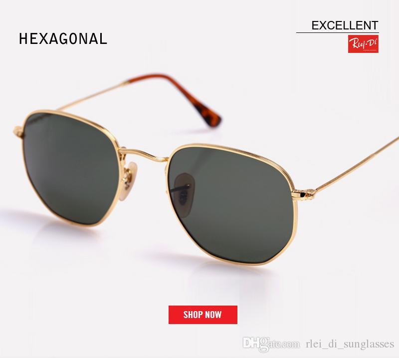 dc06d00cc25 Wholesale Classic Retro Reflective Gafas Man Hexagon Brand Designer UV400  Sun Glasses Women Unique Mercury Pink Mirror Gradient Sunglass John Lennon  ...
