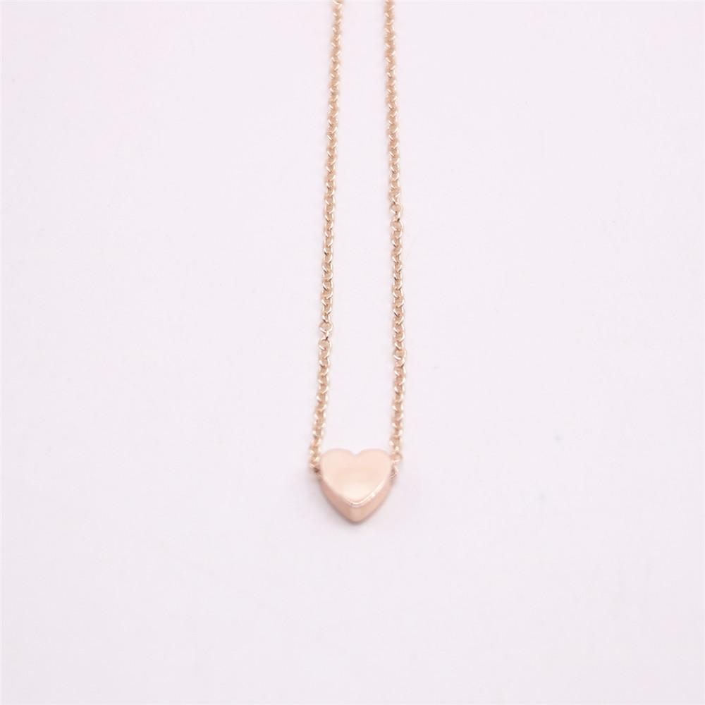 Collana pendente in argento placcato oro 18 carati Collana con fondo solido d'amore, il miglior regalo le donne