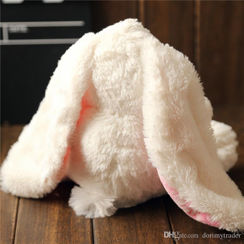 kawaii soft long ear rabbit plush toy quality big cartoon bunny doll sleeping pillows for baby gift wedding deco 28cm 40cm DY50205