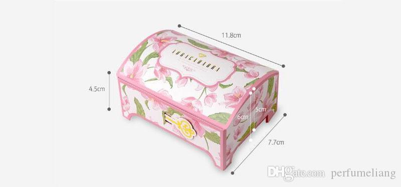 Creative Rose Bleu Fleur Pandora Bijoux Boîte Cadeau Papier 11.8 * 7.7 * 4.5 cm Cosmétique Présent Boîte ZA6792