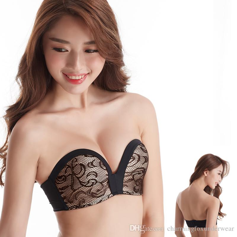 f3ca924dd7679 2019 Non Slip Brand Bras Invisible Sexy Girls  Bras Seamless Soft  Bridesmaid Sell Well Young Ladies  Lace Underwear With Wire Free Cup From  ...