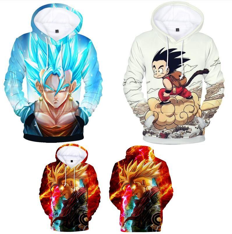 9814135f2 New Fashion Couples Men Women Unisex Kids Anime Dragon Ball Z Goku 3D Print  Hoodies Sweater Sweatshirt Jacket Pullover Tops