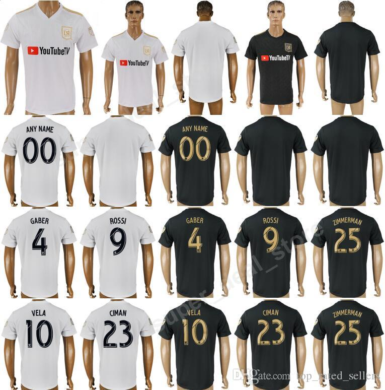 999b4bd2327 2019 LAFC Carlos Vela 2018 Los Angeles FC 2019 Soccer 10 Carlos Vela Jersey  Men Football Shirt Uniform Kits Foot Tshirt 4 GABER 9 ROSSI 10 VELA From ...