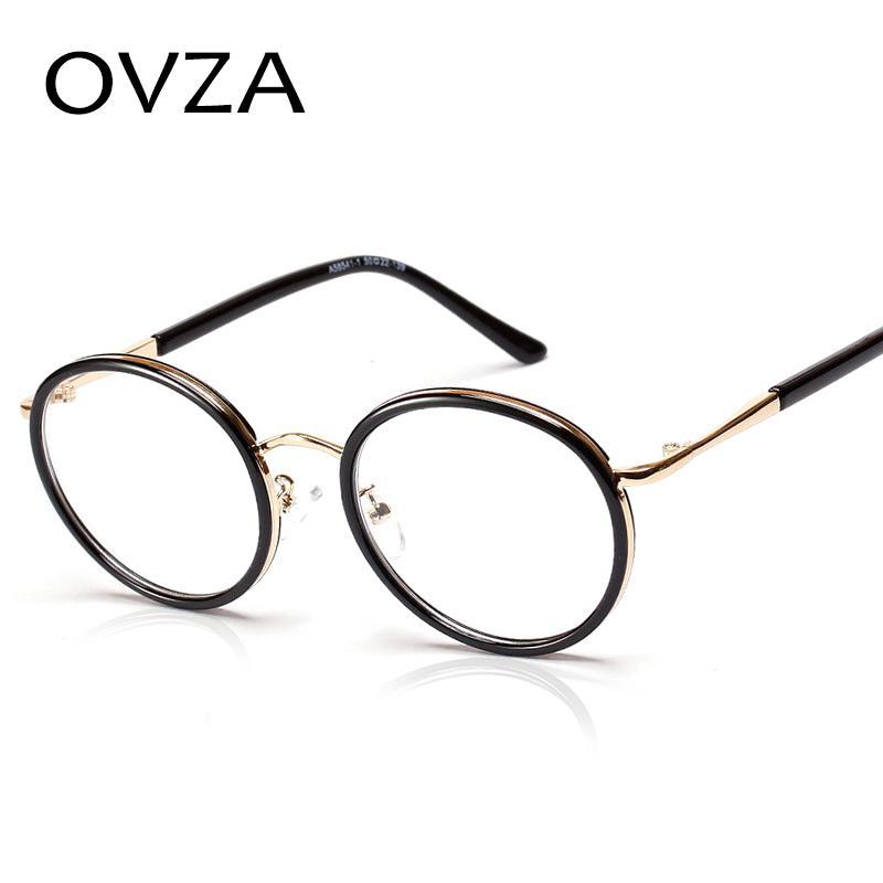 21d598e5f19 2019 Ovza Korean Style Round Men Glasses Frame Transparent Lens Eyewear  Women High Quality Retro Reading Glasses A162 From Haydena