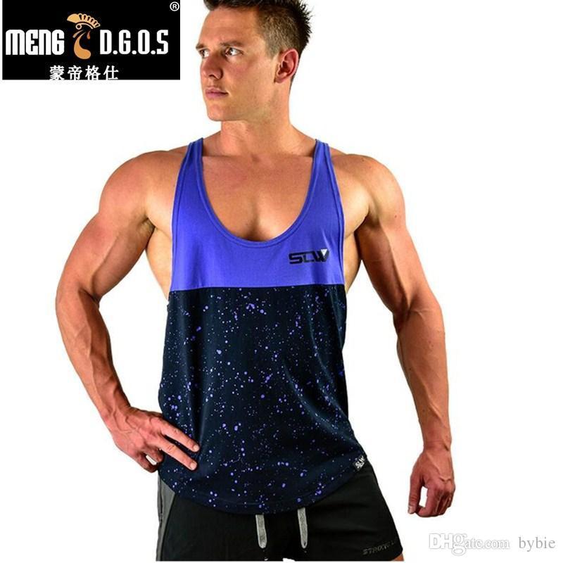2019 Männer Turnhalle Tshirt Sommer Drucke Tank Tops Bodybuilding Männer Fitness Kleidung Blusa Masculina Fitness Regatas Masculino Schmuck & Zubehör