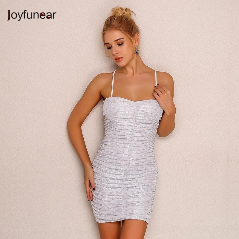 0a302a8e38 Joyfunear Fashion Women Strapless Dress 2018 Summer Holiday Beach Dress  Bodycon Evening Party Sexy Dresses Vestidos dropshipping
