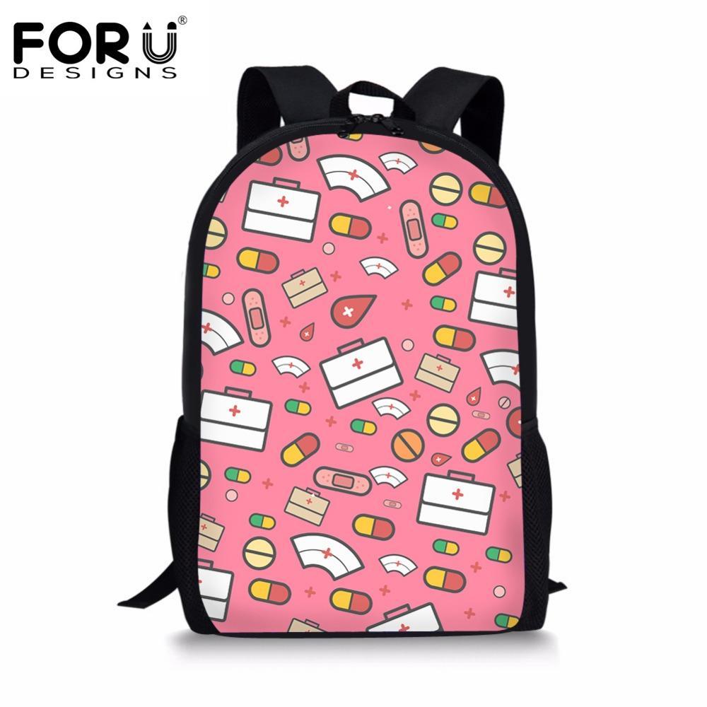 FORUDESIGNS School Bags For Teenage Girls Cute Children School Backpack  Cartoon Nurse Bear Pattern Kids Bags Women Small Backpacks Vintage Rucksack  From ... 669e7a55cd3f2