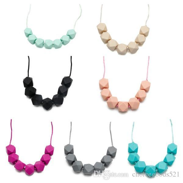 Silicone Chew Jewelry Kids Fashion Beaded Necklace Women Necklaces Baby  Food Grade Silicone Teething Beads Chewing Toy Teether Soother Teether  Toothbrush ... 97aa90d20