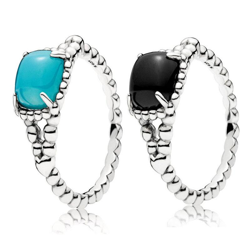 b9cfc5dbf 2019 New 925 Sterling Silver Gothic Black Blue Vibrant Spirit Ring For  Women Wedding Engagement Party Gift Fine Europe Jewelry From Bestqueen, ...