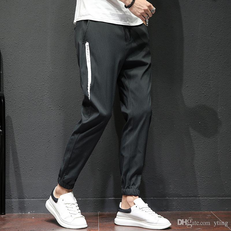8cb36eef2ad Autumn Men's Casual Pants Japanese Retro Loose Nine Points Feet Feet Sports Long  Pants Men's Casual Pants Harem Pants Casual Pants Men Online with ...