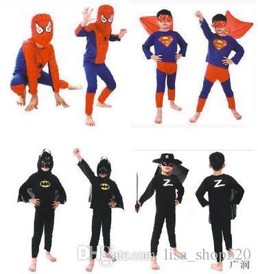 Mode iMucci Spider Man Kinder Kleidung Sets Spiderman Halloween Party Cosplay Kostüm Kinder Langarm Super Hero Batman Anzüge