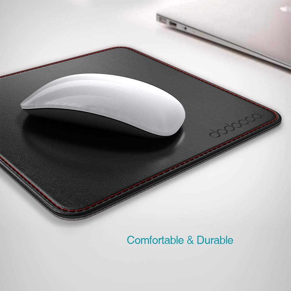 Dodocool 2 In1 Non Slip Office Mouse Pad Pu Leather Surface Gamer Carrying  Case Base Stitched Edges Mouse Pad For Laptop Work Wrist Rest Mouse Pad  Wrist ...