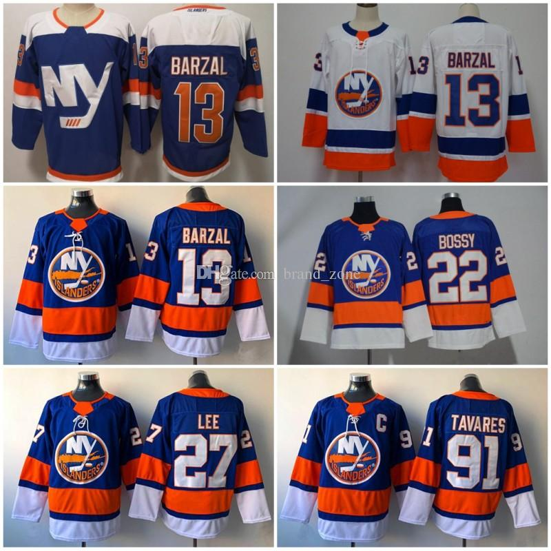 2019 New York Islanders Alternate Third Blue 13 Mathew Barzal Jersey 27  Anders Lee Denis Potvin Hockey White Stitched Men Online with  24.11 Piece  on ... e46a58d44