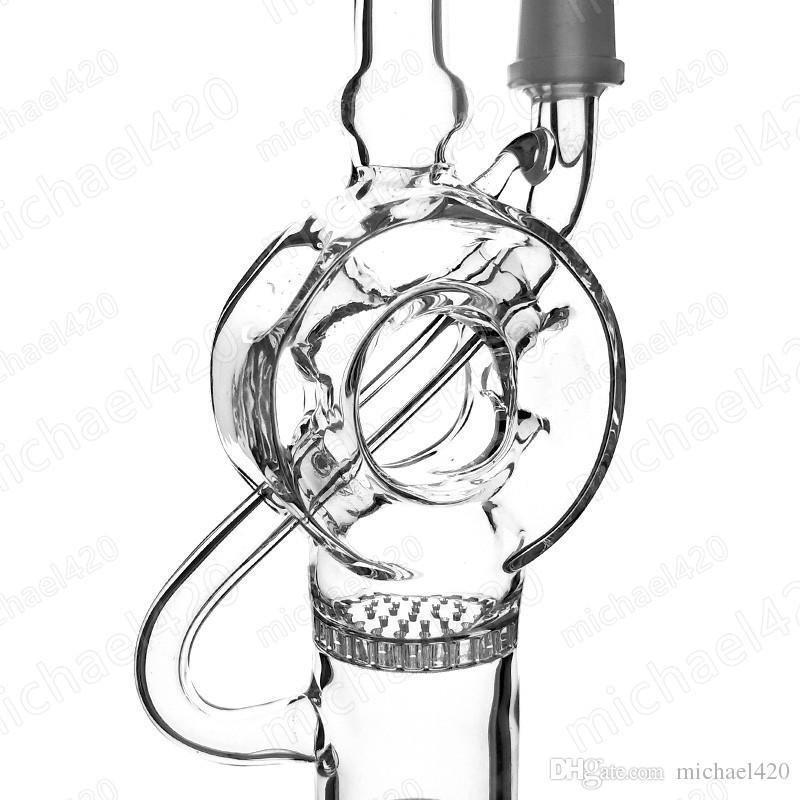Научный стеклянный сот нефтяной вышки 10мм к типу 14мм соединения снаряжения черточки перк Донута Мыжской совместной высота 7 дюймов ES-GB-004