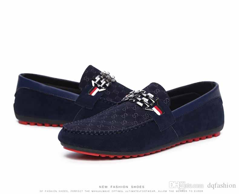 Rouge Bas Mocassins Noir Hommes Chaussures Slip Sur Hommes Loisirs Chaussures Plates Mode Homme Respirant Livraison Gratuite