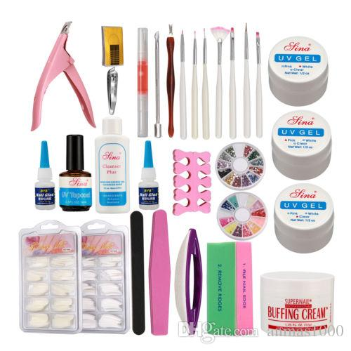 Hot Sale Paint Brush Pen Nail Art Set Uv Gel Glue Tips