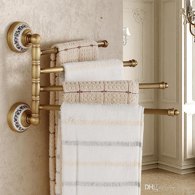 New High Quality Bathroom Rotation Bars Towel Holder Wall Mounted