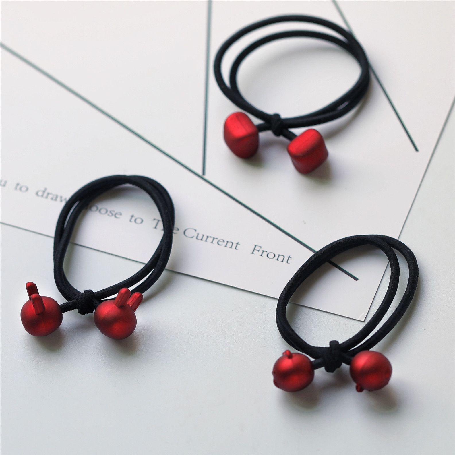 women hair bands red hair rope fashion hair accessories headband children girls rubber band