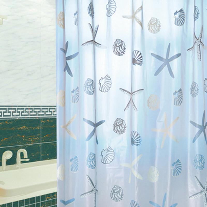 2019 New Arrival PEVA Star Fish Pattern Bathroom Waterproof Mildewproof Polyester Fabric Shower Curtain With 12 Hooks 160180cm From Baibuju8