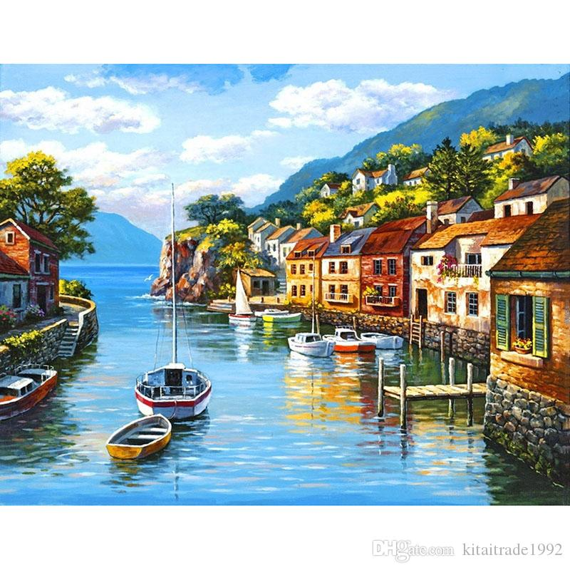 Beautiful Scenery Wall Painting Handmade 5d Painting Kit Full Paste Square Cross Stitch Home Decoration Paintings 1pc Drop Shipping