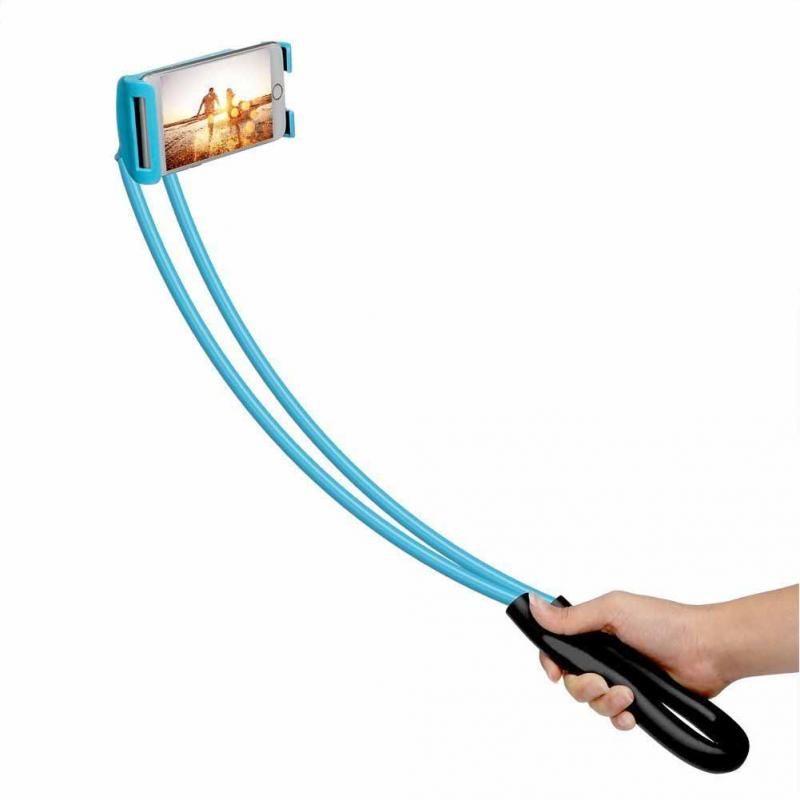 Ленивый висит шеи телефон стоит ожерелье мобильный телефон кронштейн для Samsung Универсальный держатель для iphone Бесплатно