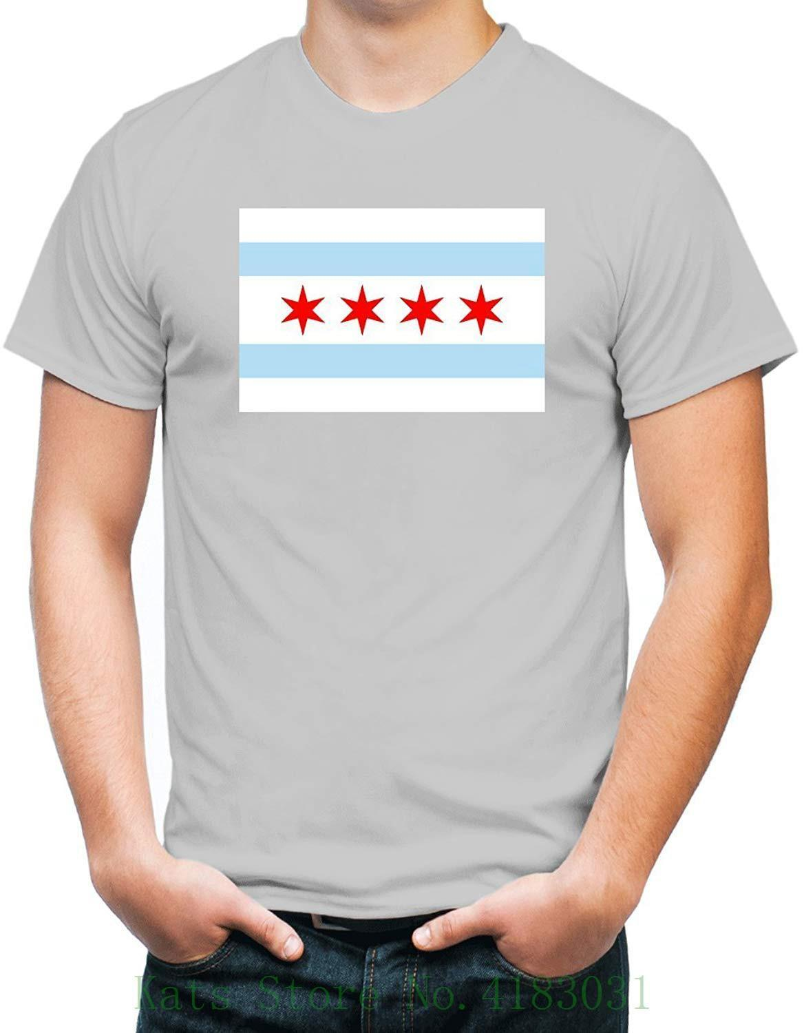 Grosshandel Zornick Tees Chicago Flag T Shirt Casual Plus Grosse T