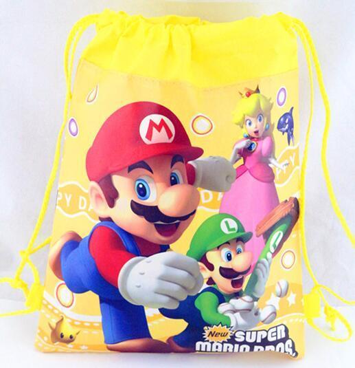 662cb7040dc06 Satın Al Yeni Süper Mario Ilk Karikatür Çocuklar İpli Baskılı Sırt Çantası  Plaj Alışveriş Okul Seyahat Çantaları 34 * 27 Cm, $22.8 | Dhgate.Com'da