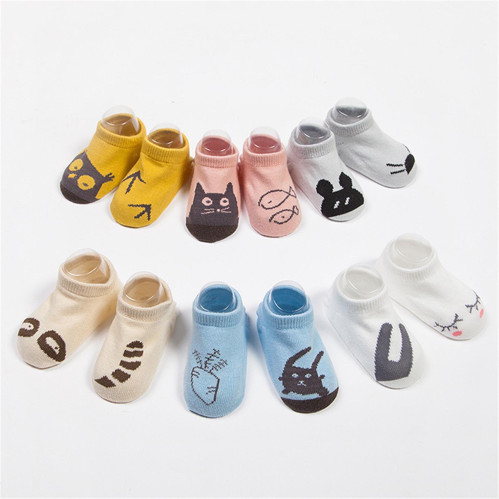Kid Infant Boy Girl Baby Socks Cotton Anti Slip Cartoon Animal