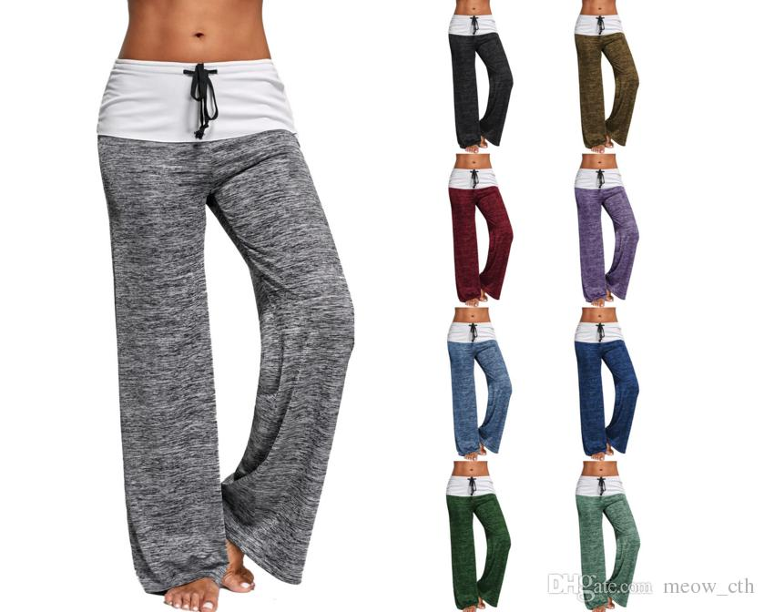 bba5580b62403 2018 Loose Fashion Baggy New Women Casual Yoga Pants Female Speed Elastic Fitness  Pants High Elastic Loose Yoga Women Casual Pants Baggy New Women Casual ...