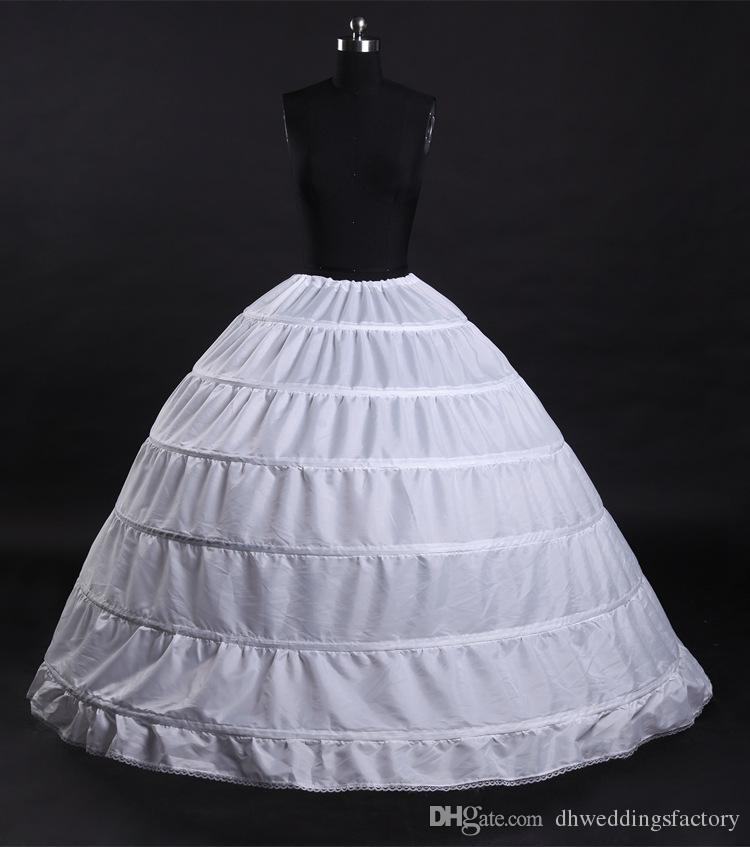Ball Gown 6 Hoops Petticoat Wedding Slip Crinoline Bridal Underskirt Layes Slip 6 Hoop Skirt Crinoline for Quinceanera Dress