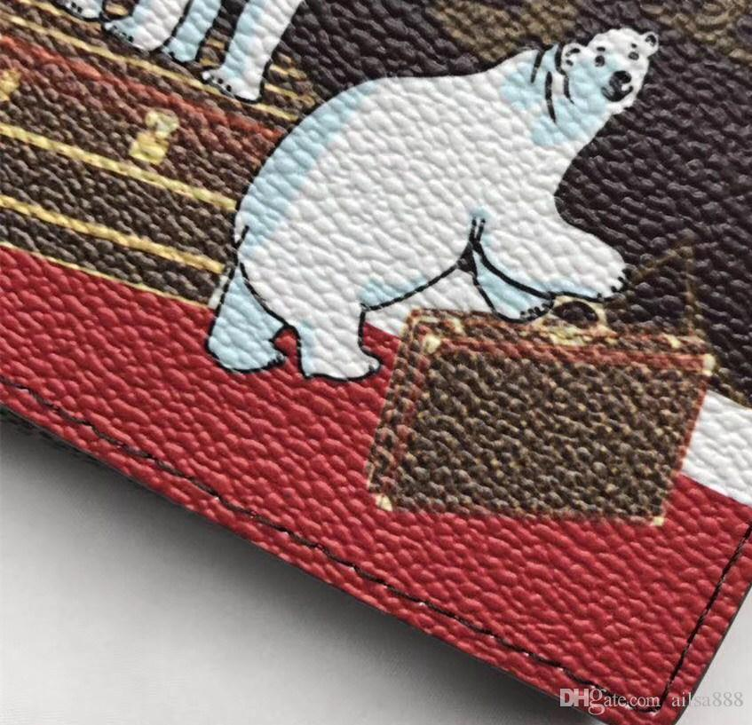 2017 Christmas new women's purse high quality canvas bag Polar bear print luxury bags. Distribute the latest brand box