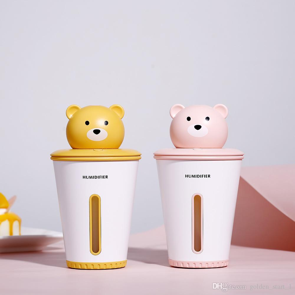 2019 New Style Portable Cute Air Humidifier Mute Desktop Usb Charging Mini Air Purifier With Night Lamp Household Appliances
