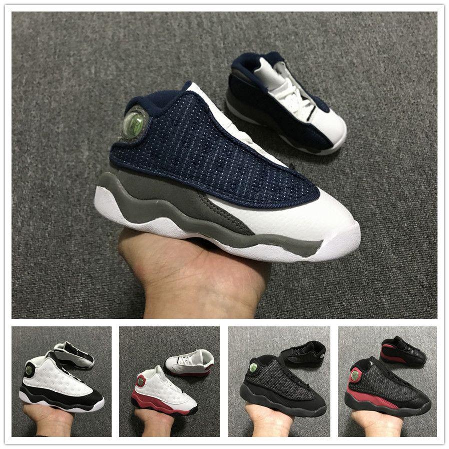 quality design 18e58 74c40 Großhandel Nike Air Jordan Aj13 Jungen Mädchen 13s OG Schwarze Katze Basketball  Schuhe Kinder Sportschuhe Baby Kids Schuhe Geburtstagsgeschenk Eur 22 27  Von ...