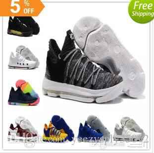 e52255853f2 Kids KD 10 Basketball Shoes Hot Sale FMVP Signature Shoes Classic 9 Style  Kevin Durant Sneaker Athletic Outdoor Best Running Shoes For Girls Boys  Running ...