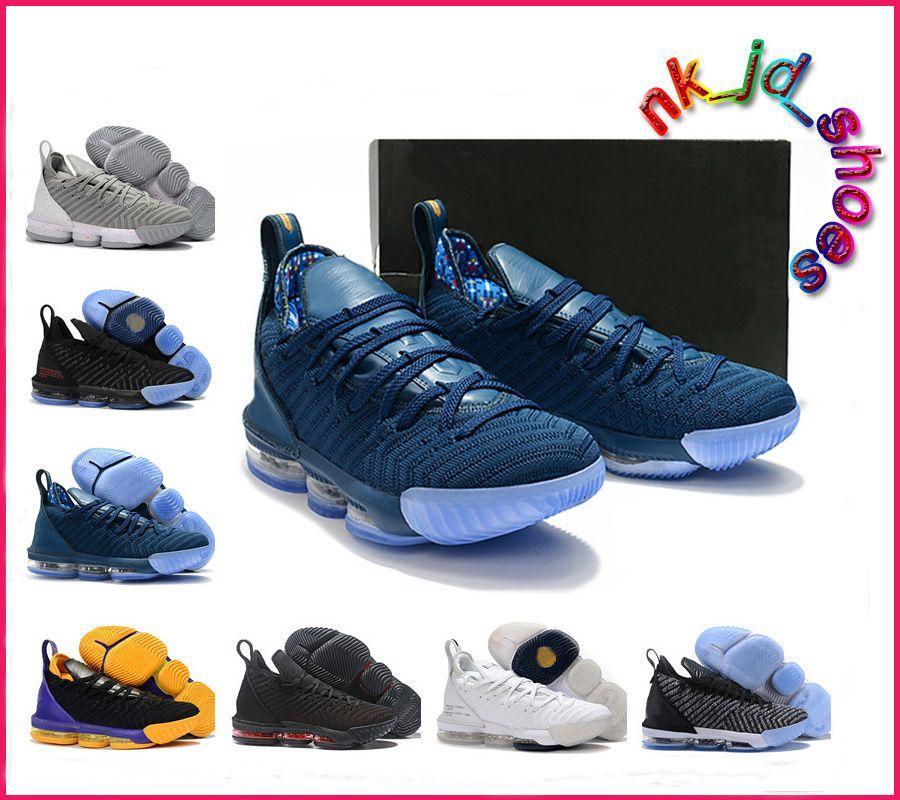 online retailer da906 d2c57 Lebron 16 Fresh Bred Women Basketball Shoes Purple Red Off James 16 Oreo  Triple Black White womens Brand Sneakers size us5.5-8.5