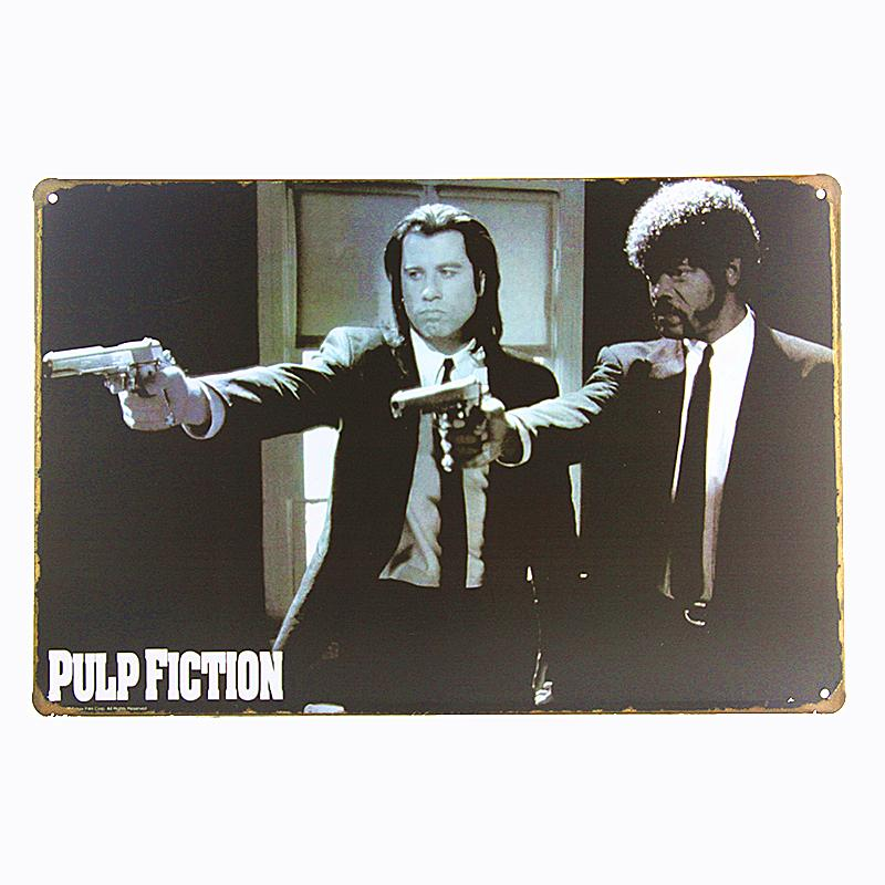 2018 Pulp Fiction Movie Metal Plaque Gift Pub Wall Art Painting Bar ...