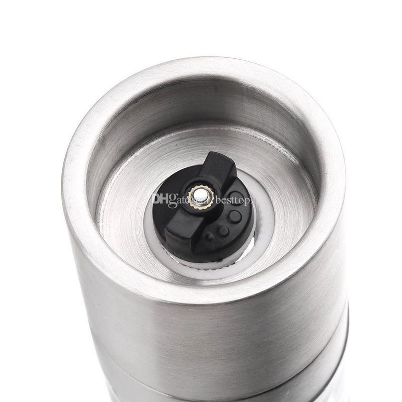 Yeni Pratik Paslanmaz Çelik Manuel Tuz Karabiber Değirmeni Sosu Değirmeni Mutfak Pişirme Araçları Gümüş Spice şişeleri