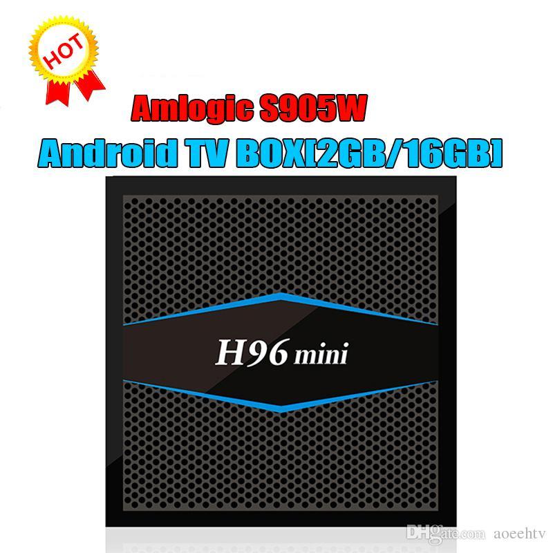 Original H96 MINI Amlogic S905W OTT IPTV tv boxes 2GB 16GB eMMC Flash H 265  4K Android TV Box PK X96 TX3 Mini MXQ PRO T95Z PLUS