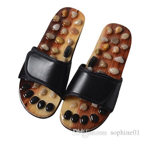 205646b19295b Acquista Pantofole Massaggio Ai Piedi Uomo Assistenza Sanitaria Sandali In  Pietra Ciottoli Riflessologia Maschile Piedi Scarpe Da Massaggiatore  Anziani Con ...