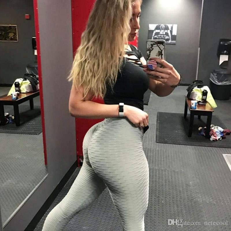 30fa1ee5b715 2019 018 Fashion Women Leggings Female Push Up Spandex Pants Wrinkle  Scrunch Butt Leggins New Fitness Leggings Workout Jeggings Multicolor Hot  From Netecool ...