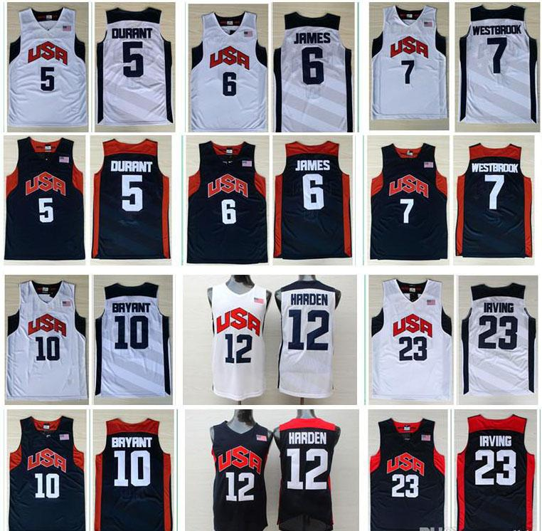 9e03b11bb ... clearance 2018 men basketball jerseys 2012 olympic games usa dream team  6 james 5 kevin durant