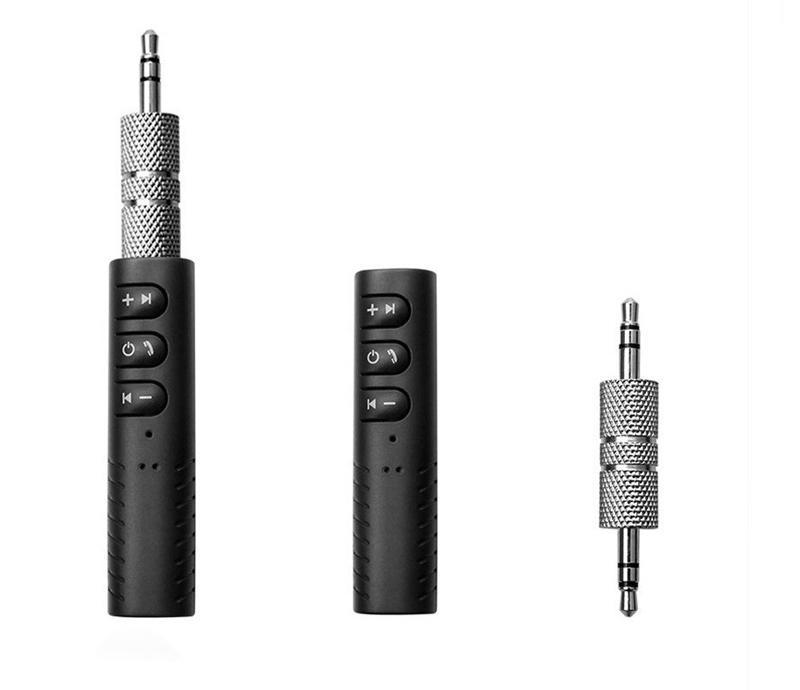 Clip-on Wireless AUX Bluetooth 4.1-Empfänger für Auto-Kopfhörer-Lautsprecher 3,5-mm-Bluetooth-Audio-Musik-Adapter-Buchse mit Mikrofon