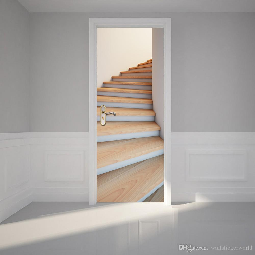 4 Diy Decorating Ideas For A Staircase: 3D Staircase Door Stickers Self Adhesive Decoration