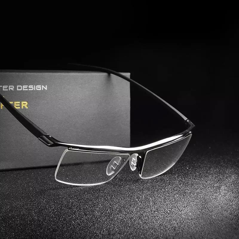 8d767b33dd7 Classic Luxury Brand Men Eyeglasses With Steel Optical Brand ...