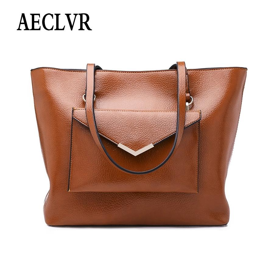 d48568fd79bc AECLVR Simple Style Solid Color Pu Leather Casual Tote + Envelope Purse All  Match Women Shoulder Bags Ladies Daily Crossbody Bag Shoulder Bags For Men  ...