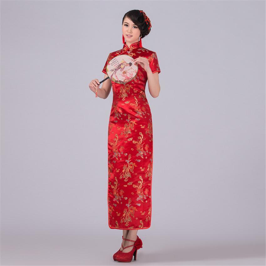 44f3943fd0fb8 Acquista Abito Cinese Donne Abito Cheongsam Costumi Tradizionali Seta Di  Raso Vintage Party Donna Di Capodanno Cinese In Stile Cinese A  23.17 Dal  ...