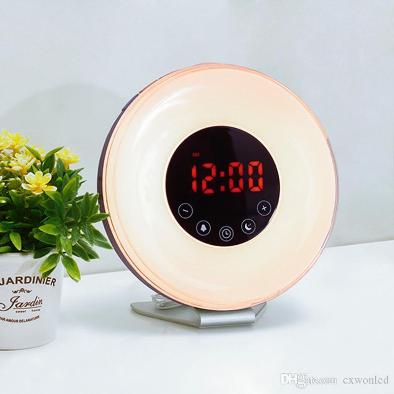 ed19bdbbc6b Compre Despertador Do Nascer Do Sol Despertar A Luz Com A Simulação Do Sol  Do Nascer Do Sol
