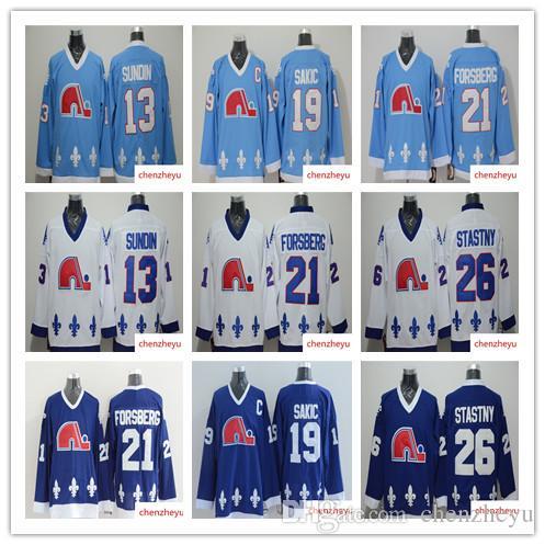 Best Men S Quebec Nordiques Jerseys 13 Mats Sundin 21 Peter Forsberg 26  Peter Stastny 19 Joe Sakic Hockey Jerseys Under  36.55  ebc044bd5